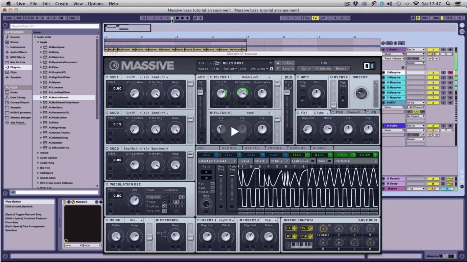 Making A Synth Bass Patch: NI Massive