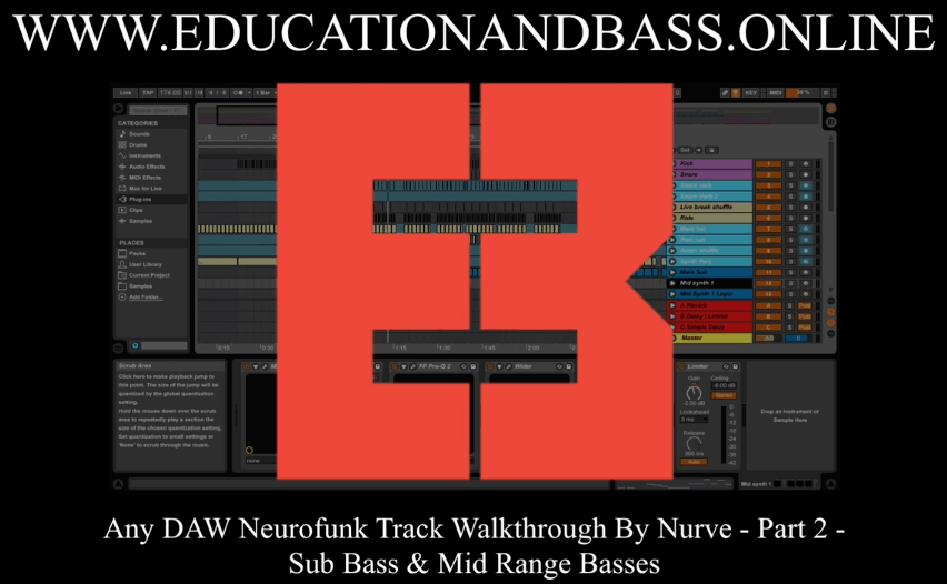 Neurofunk Track Walkthrough: Part 2 – Sub Bass & Mid Range Basses