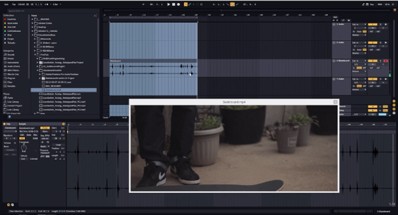 Importing MP4s Into Ableton | Making Drums With A Skateboard (Project files In Description)